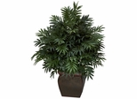 Triple Bamboo Palm with Decorative Planter Silk Plant - Nearly Natural - 6719