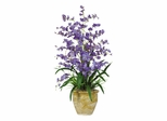 Triple Dancing Lady Silk Flower Arrangement in Purple - Nearly Natural - 1070-PP