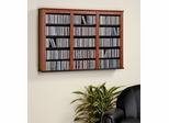 Triple Floating Wall Storage in Cherry/Black - Prepac Furniture - CFW-0523