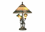 Triple Lily Tiffany Table Lamp - Dale Tiffany
