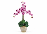 Triple Phalaenopsis Silk Orchid Flower Arrangement in Mauve - Nearly Natural - 1017-MA