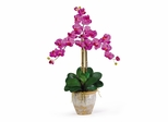 Triple Phalaenopsis Silk Orchid Flower Arrangement in Orchid - Nearly Natural - 1017-OR