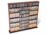 Triple Width Wall Storage in Cherry/Black - Prepac Furniture - CMA-0960