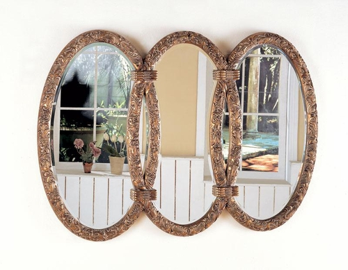 Triplet Wall Mirror in Antique Bronze - 900178