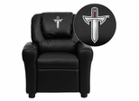Troy University Trojans Embroidered Black Vinyl Kids Recliner - DG-ULT-KID-BK-41078-EMB-GG