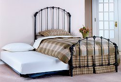 Trundle Bed - Bonita Twin Size Trundle Bed in Copper Mist - Hillsdale Furniture - 346BTWHTR