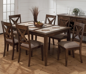 Tucson Brown Tile Top Dining Table and Nova Chair Set - 794-64