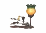 Tulip Accent Lamp - Green Amber - Dale Tiffany