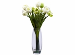 Tulip with Vase Silk Flower Arrangement - Nearly Natural - 4792