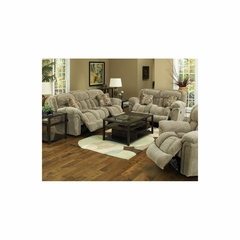 Tundra Micro Suede Reclining 3pc Sofa Set in Sage - Catnapper