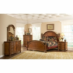 Turnberry 5 Piece Wood Bedroom Set Antique Cherry - Largo - LARGO-WG-B1310A-SET
