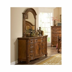 Turnberry Dresser Antique Cherry Marble Top - Largo - LARGO-WG-B1310A-10