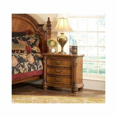 Turnberry Nightstand Antique Cherry Marble Top - Largo - LARGO-ST-B1310A-40