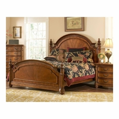Turnberry Wood Post Bed Antique Cherry - Largo - LARGO-ST-B1310A-BED