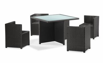 Turtle Bach Table Set in Chocolate - Zuo Modern - 701148
