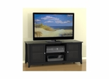 Tuxedo 58'' TV Console - 2 Glass doors, 2 Open Areas - Fits Most Center Channels - Nexera Furniture
