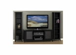 "Tuxedo 58"" TV Stand & 2 Slim Bookcases - Nexera Furniture"