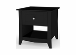 Tuxedo End Table - 1 Drawer & 1 Open Storage Space - Nexera Furniture