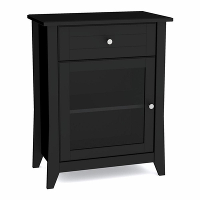 Tuxedo Hall Console - 1 Glass door, 1 Drawer & 1 Adjustable Shelf - Nexera Furniture