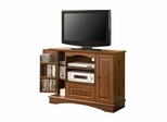 TV Stand - 42 Inch Bedroom TV Console with Media Storage in Traditional Brown - WQ42BC3TB