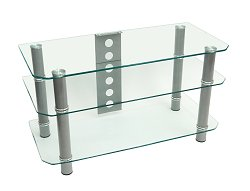 TV Stand - 42 Inch Contempo TV Stand in Clear - V42Y79
