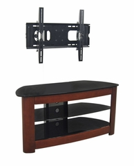 TV Stand - 42 Inch Regal TV Stand with Mount in Black / Wood - V42MWF