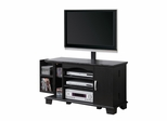 TV Stand - 42 Inch Wood TV Console with Mount and Storage in Black - P42C77BL-MT