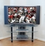 TV Stand - 44 Inch Bermuda Corner TV Stand in Clear / Black - V44Y76CB