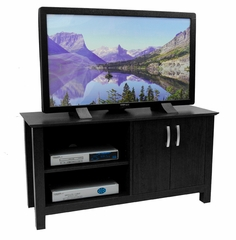 TV Stand - 44 Inch Cordoba Wood TV Stand in Black - W44COSBL