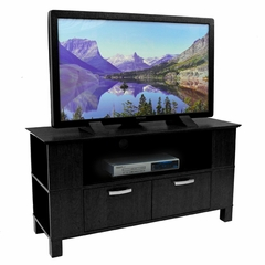 TV Stand - 44 Inch Coronado Wood TV Stand in Black - W44CMPBL