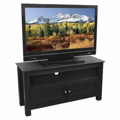 TV Stand - 44 Inch Cortez Wood TV Stand in Black - W44CSBL