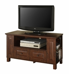 TV Stand - 44 Inch Multi-Purpose Wood TV Console in Traditional Brown - WQ44CMPTB