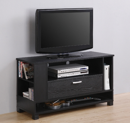 TV Stand - 44 Inch Wood Game Console in Black - W42CGCBL