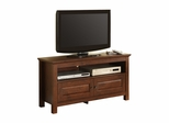 TV Stand - 44 Inch Wood TV Console in Traditional Brown - WQ44CSTB