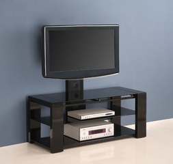 TV Stand - 48 Inch Cayenne TV Stand with Removable Mount in Black - V48EC1BL
