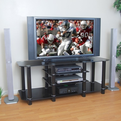 TV Stand - 60 Inch Dynasty TV Stand in Black - V60Y712B