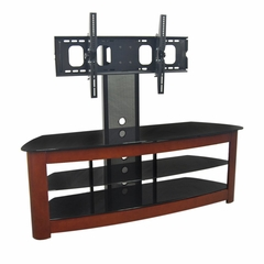 TV Stand - 60 Inch Regal TV Stand with Mount in Black / Wood - V60MWF