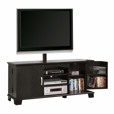 TV Stand - 60 Inch Wood TV Console with Mount in Black - W60C73BL-MT