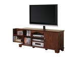 TV Stand - 60 Inch Wood TV Console with Mount in Traditional Brown - W60C73MB-MT