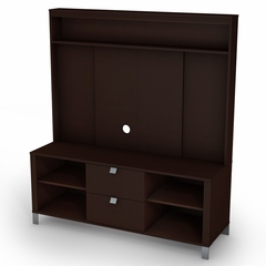 TV Stand and Hutch Set in Chocolat - Cakao - South Shore Furniture - 4259600-621