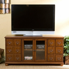 TV Stand - Camden Brown Mahogany Media Stand - Holly and Martin