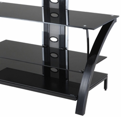 "TV Stand - ""Gloss Black"" - Powell Furniture - 629-700"