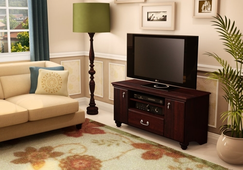 TV Stand/Storage Unit in Dark Mahogany - South Shore Furniture - 4316662
