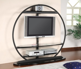 TV Stand with Bracket in Sandy Black - Coaster