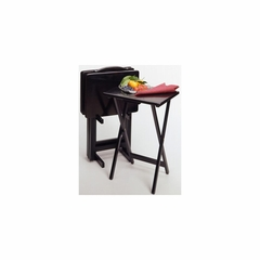 TV Table Set in Black Finish - Winsome Trading - 22520