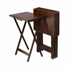 TV Table Set in Walnut - Winsome Trading - 94419