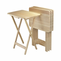 TV Tables Set in Natural Finish - Winsome Trading - 42419