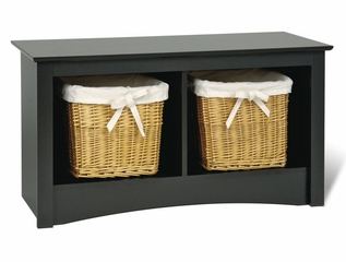 Twin Cubbie Bench in Black - Sonoma Collection - Prepac Furniture - BSC-3620