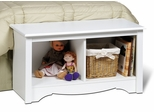 Twin Cubbie Bench in White - Monterey Collection - Prepac Furniture - WSC-3620