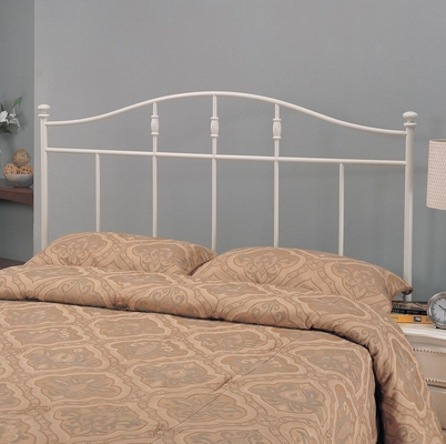 Twin Metal Headboard in Cottage White - 300183T
